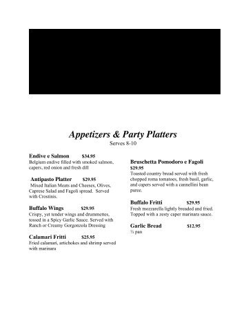 Appetizers & Party Platters