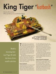 war Tiger II with the best of two small-scale kits - FineScale Modeler