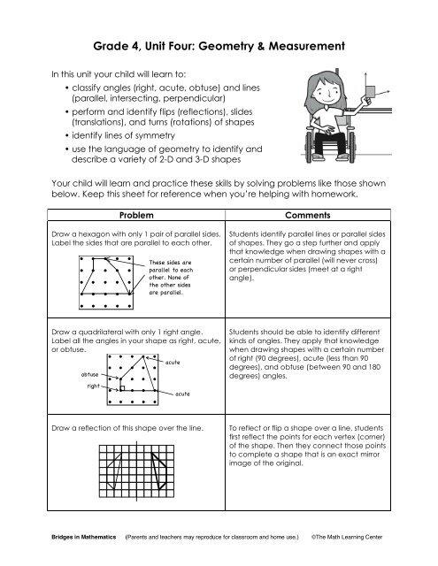 Grade 4, Unit Four: Geometry & Measurement