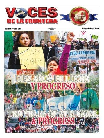 Octubre/October 2011 Bilingual – Free / Gratis - Voces De La Frontera