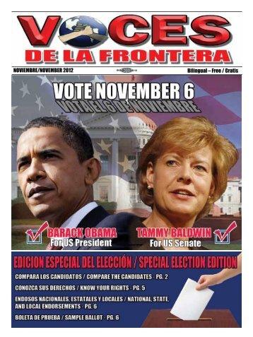 NOVIEMBRE/NOVEMBER 2012 Bilingual – Free / Gratis