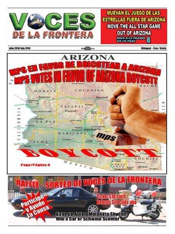 Julio 2010/July 2010 Bilingual – Free / Gratis - Voces De La Frontera