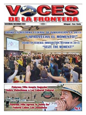 DICIEMBRE/DECEMBER 2012 - Voces De La Frontera