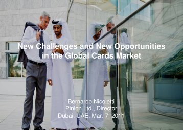 New Challenges and New Opportunities in the ... - Bernardo Nicoletti