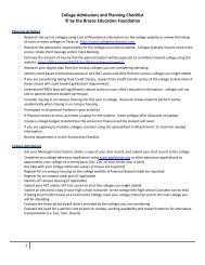 College Admissions and Planning Checklist © by ... - China Spring ISD