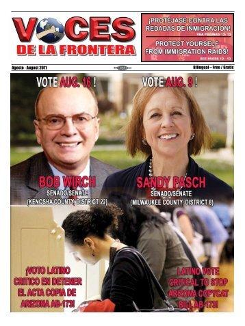 Agosto - August 2011 Bilingual – Free / Gratis - Voces De La Frontera