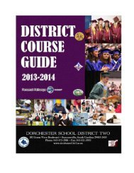 High School Course Guide - Dorchester School District Two