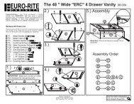 98-004 Front 48 Inch 2 Door 4... - Euro-Rite Cabinets