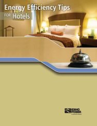Energy Efficiency Tips for Hotels - Idaho Power