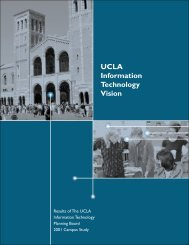 UCLA Information Technology Vision - ITPB
