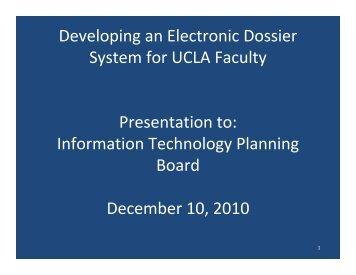 ITPB E-Dossiers Final - UCLA