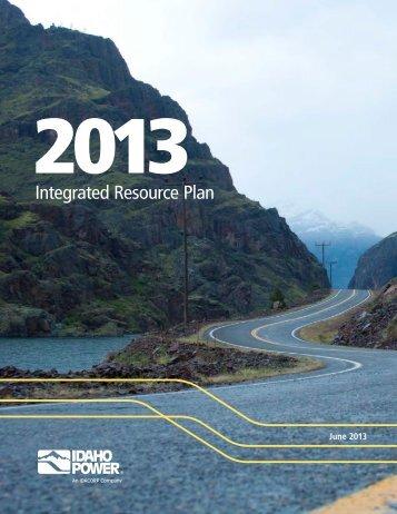 2013 Integrated Resource Plan - Idaho Power
