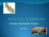UC Climate Assessment Presentation - ITPB - UCLA