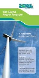 A renewable resource of choice. - Idaho Power