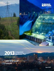 Appendix A—Sales and Load Forecast - Idaho Power