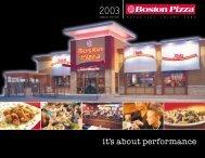 2003 Annual Report - Boston Pizza Royalties Income Fund
