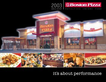 2003 Annual Report - Boston Pizza Royalties Income Fund
