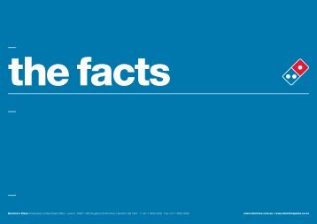 The Facts - Domino's Pizza