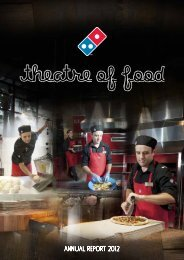 2012 Annual Report - Domino's Pizza