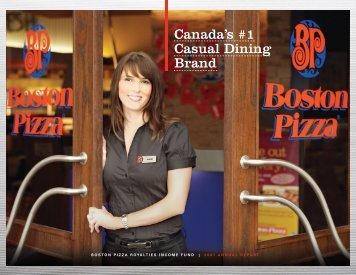 2007 Annual Report - Boston Pizza Royalties Income Fund