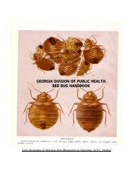 GEORGIA DIVISION OF PUBLIC HEALTH BED BUG HANDBOOK