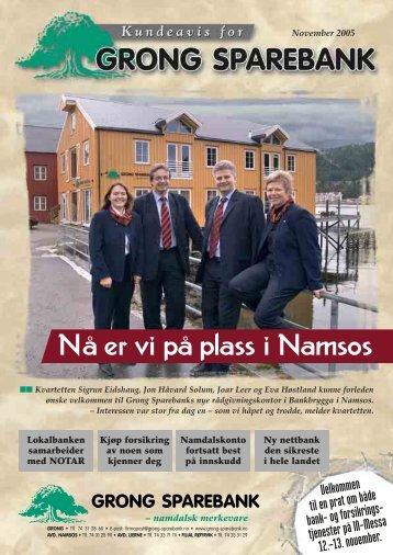 Nå er vi på plass i Namsos - Grong Sparebank