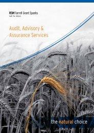 Audit, Advisory & Assurance Services - RSM Farrell Grant Sparks