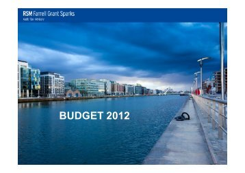 Budget 2012 presentation given at Longford office of RSM Farrell ...