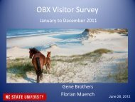 OBX Visitor Survey - The Outer Banks