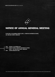 Notice of Annual General Meeting October 2013 - Domino's Pizza