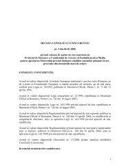 1 DECIZIA CONSILIULUI CONCURENTEI nr. 3 din 06.01.2006 ...