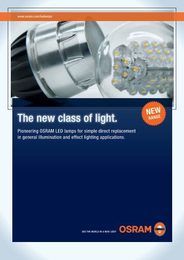 The new class of light. - OSRAM
