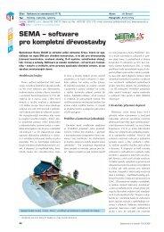 SEMA – software pro kompletní dřevostavby - Stavebnictví a interiér