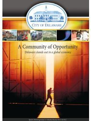 A Community of Opportunity - City of Delaware