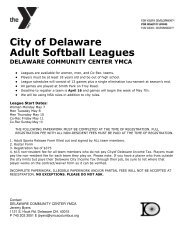 City of Delaware Adult Softball Leagues