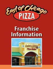 Franchise Information - East of Chicago Pizza