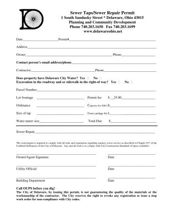City Of Pittsburgh Commercial Building Permit Application