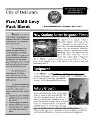 Fire/EMS Levy Fact Sheet - City of Delaware