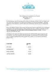 A pre bid meeting will be held on Wedn - City of Delaware