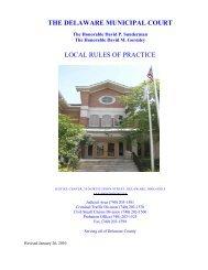THE DELAWARE MUNICIPAL COURT LOCAL ... - City of Delaware