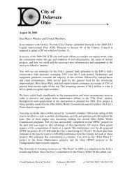 Capital Improvement Plan (CIP) - City of Delaware