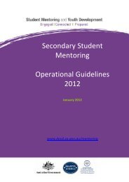 Secondary Student Mentoring Operational Guidelines ... - 18/2/2011