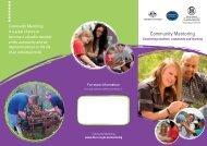 Community Mentoring Brochure