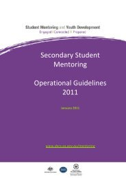 Secondary Student Mentoring Operational Guidelines 2011