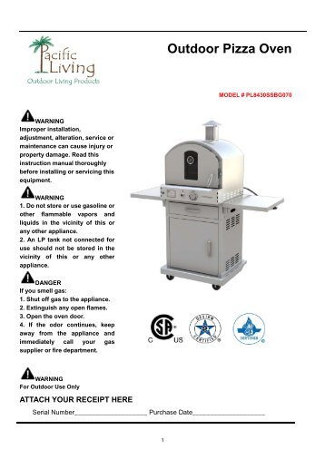 Pizza Oven Assembly Instructions   Pacific Living