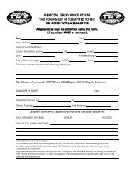 OFFICIAL GRIEVANCE FORM
