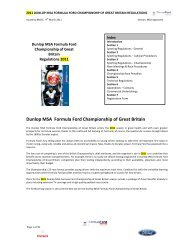 Dunlop MSA Formula Ford Championship of Great Britain - brscc
