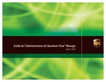 Guide de l'administrateur de Quantum View Manage