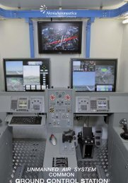 unmanned air system common ground control ... - Alenia Aermacchi