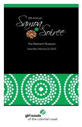 Samoa Soiree - Girl Scouts of the Colonial Coast